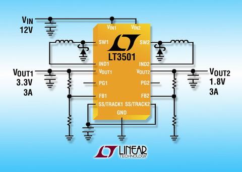 凌力尔特推出双路电流模式 pwm 降压型 dc/dc 转换器