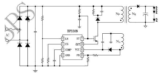 bp5118高压线性恒流驱动芯片将为hvled提供可靠的驱动电源应用方案