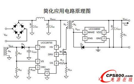 图示3-大联大友尚代理的ti ucc28730简化应用电路原理图