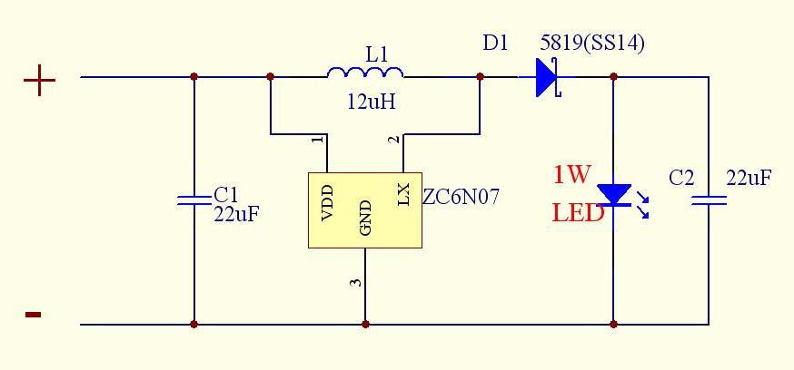 1w/3w大功率led用的恒流驱动ic