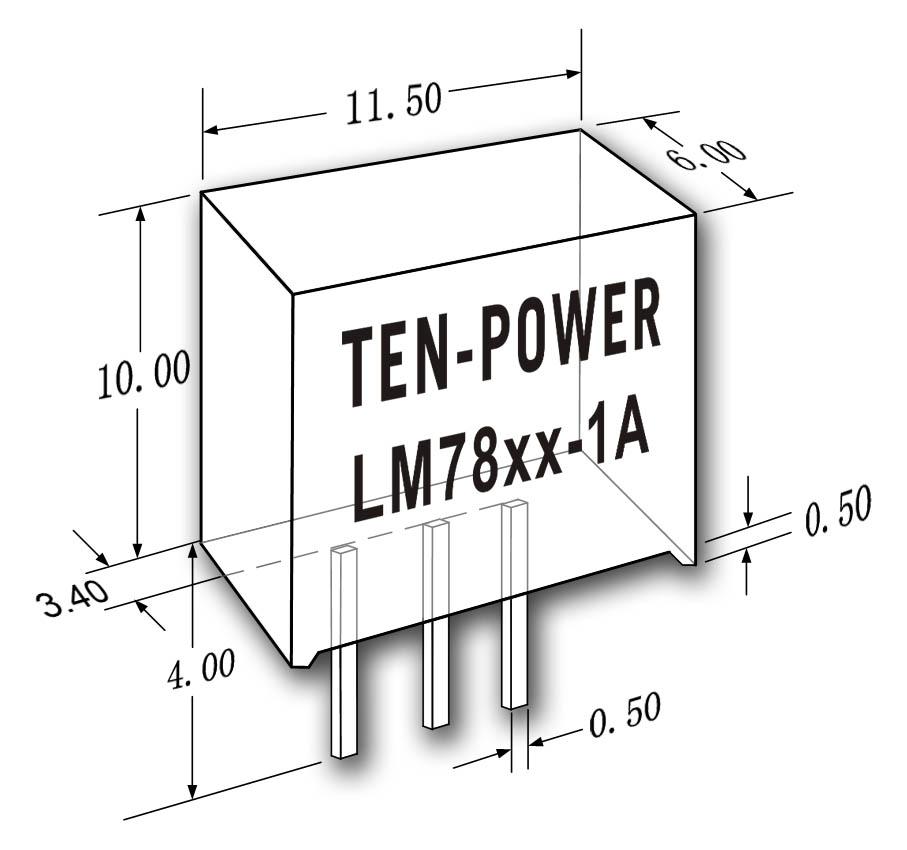 新一代非隔离直插式负载点dcdc电源模块